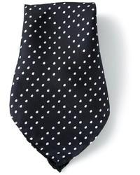 Pochette de costume en soie á pois bleu marine Vivienne Westwood
