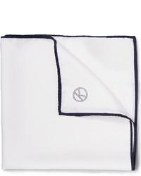 Pochette de costume en soie blanc Drakes