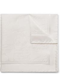 Pochette de costume en soie blanche Berluti