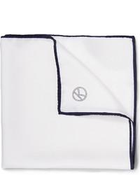 Pochette de costume en soie blanche Drakes