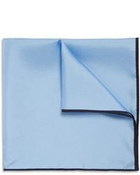 Pochette de costume en soie bleu clair Drakes