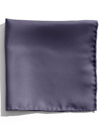 Pochette de costume en soie bleu marine