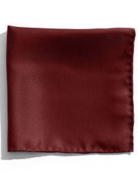 Pochette de costume en soie bordeaux