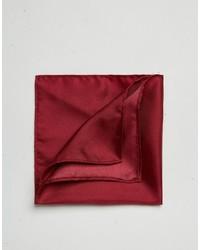 Pochette de costume en soie bordeaux Asos