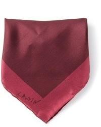 Pochette de costume en soie bordeaux Lanvin