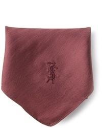Pochette de costume en soie bordeaux Yves Saint Laurent
