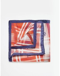 Pochette de costume en soie écossaise orange Vivienne Westwood