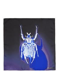 Pochette de costume en soie imprimée bleu marine Paul Smith