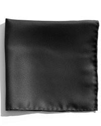 Pochette de costume en soie noire