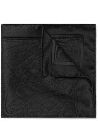 Pochette de costume en soie noire Berluti