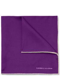 Pochette de costume en soie pourpre foncé Turnbull & Asser