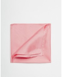 Pochette de costume en soie rose Asos
