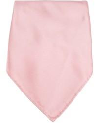 Pochette de costume en soie rose Lanvin