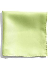 Pochette de costume en soie verte