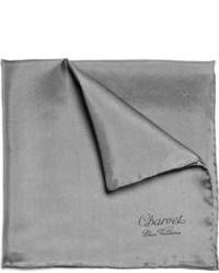 Pochette de costume gris foncé Charvet