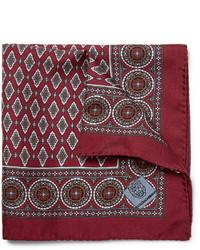 Pochette de costume imprimé bordeaux Dolce & Gabbana