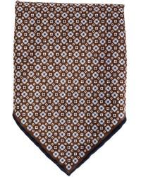 Pochette de costume imprimé brun foncé Brunello Cucinelli