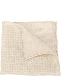 Pochette de costume imprimée beige Brunello Cucinelli