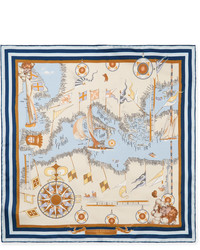 Pochette de costume imprimée beige Rubinacci