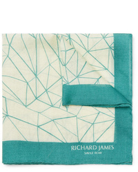 Pochette de costume imprimée beige Richard James