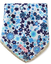 Pochette de costume imprimée blanc et bleu fe-fe