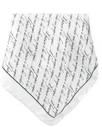 Pochette de costume imprimée blanche et noire fe-fe