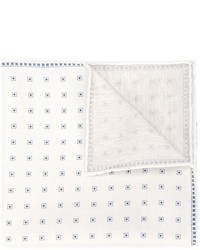 Pochette de costume imprimée blanche Brunello Cucinelli