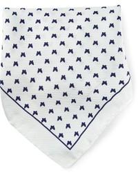Pochette de costume imprimée blanche fe-fe