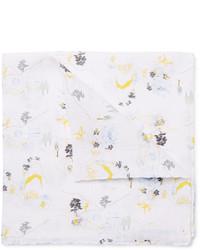 Pochette de costume imprimée blanche Thom Browne