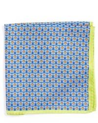 Pochette de costume imprimée bleu clair