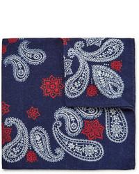 Pochette de costume imprimée bleu marine Alex Mill