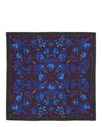 Pochette de costume imprimée bleu marine Paul Smith