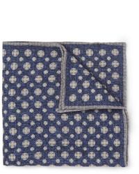 Pochette de costume imprimée bleu marine