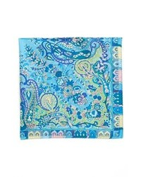 Pochette de costume imprimée bleue