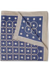 Pochette de costume imprimée bleue Boglioli