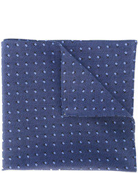 Pochette de costume imprimée bleue Hugo Boss
