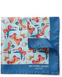 Pochette de costume imprimée bleue Richard James