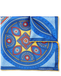 Pochette de costume imprimée bleue Turnbull & Asser