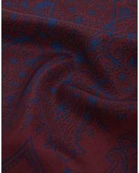Pochette de costume imprimée bordeaux Asos