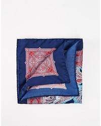 Pochette de costume imprimée cachemire bleue Ted Baker