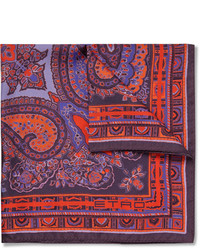 Pochette de costume imprimée cachemire bordeaux Etro