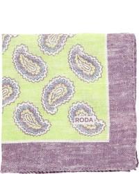 Pochette de costume imprimée cachemire chartreuse