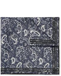 Pochette de costume imprimée cachemire gris foncé Turnbull & Asser