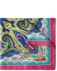 Pochette de costume imprimée cachemire multicolore Etro