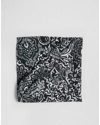 Pochette de costume imprimée cachemire noire Asos