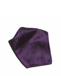 Pochette de costume imprimée cachemire pourpre foncé