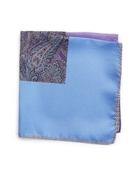 Pochette de costume imprimée cachemire violet clair