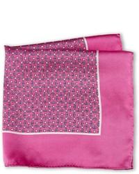 Pochette de costume imprimée fuchsia