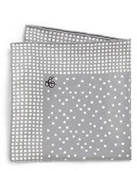 Pochette de costume imprimée grise