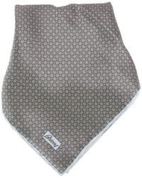 Pochette de costume imprimée grise Brioni